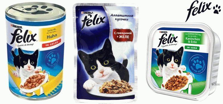 Корм для кошек Феликс